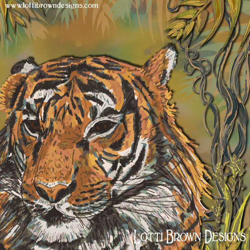 Tiger art detail - click to go behind the scenes