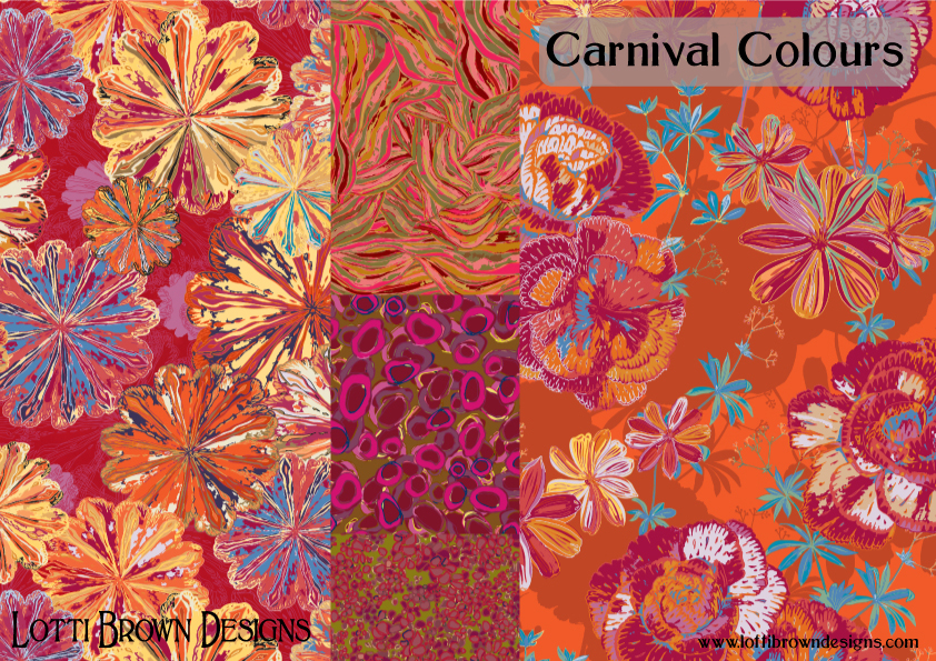 Carnival Colour fabric collection by Lotti Brown