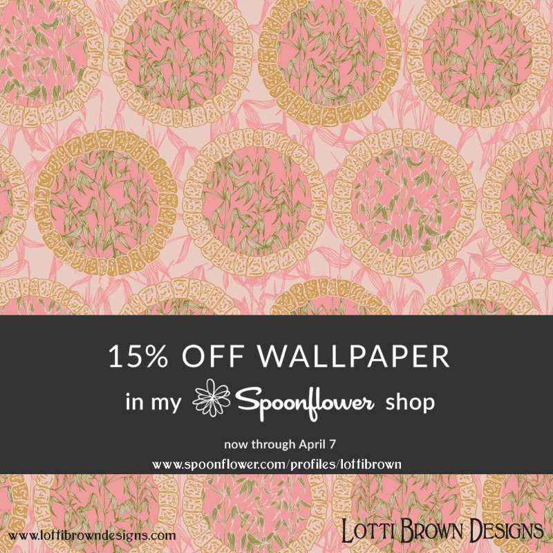 15% off wallpapers in the Lotti Brown Spoonflower store