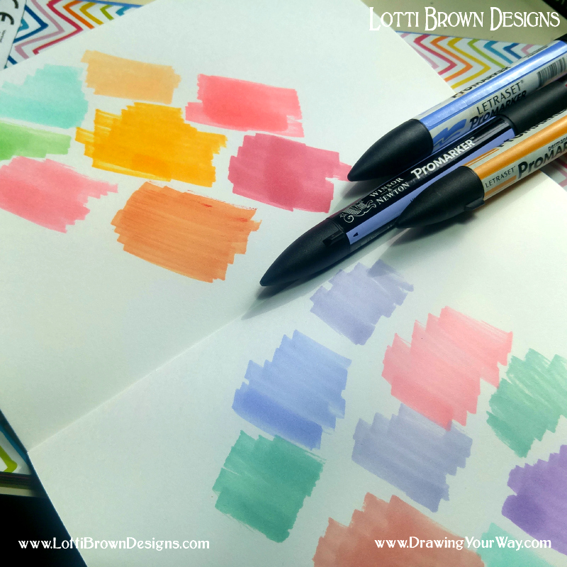 Use your sketchbook as a place to explore colour palettes - click to make it larger