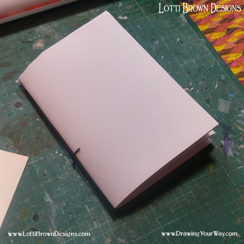 The completed sketchbook - quick and easy!