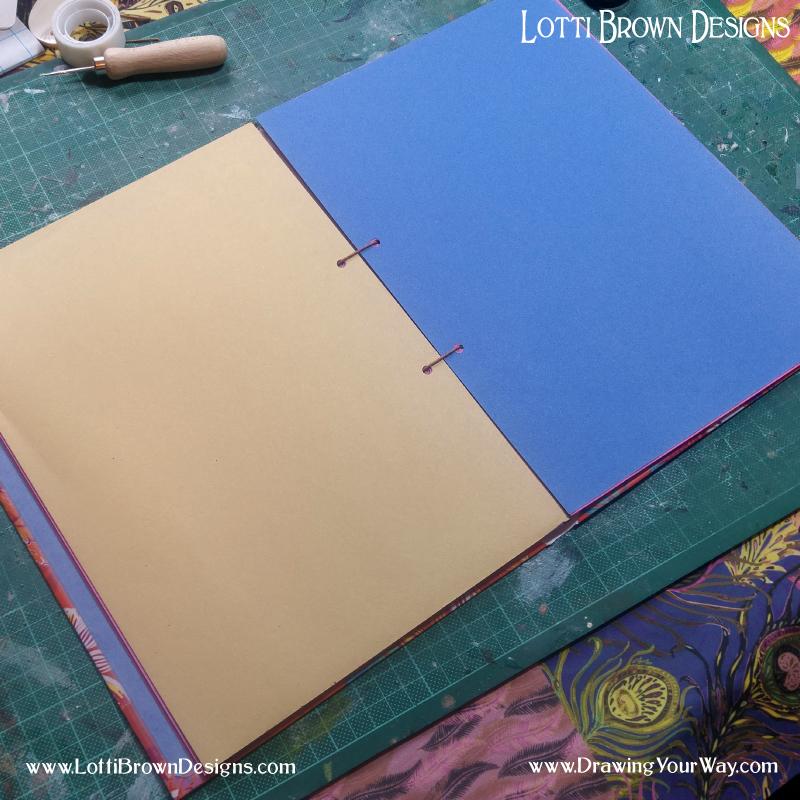 Inside the completed sketchbook.