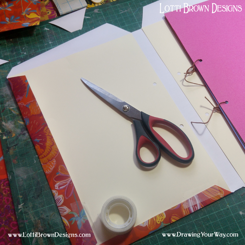 Decorate your sketchbook cover