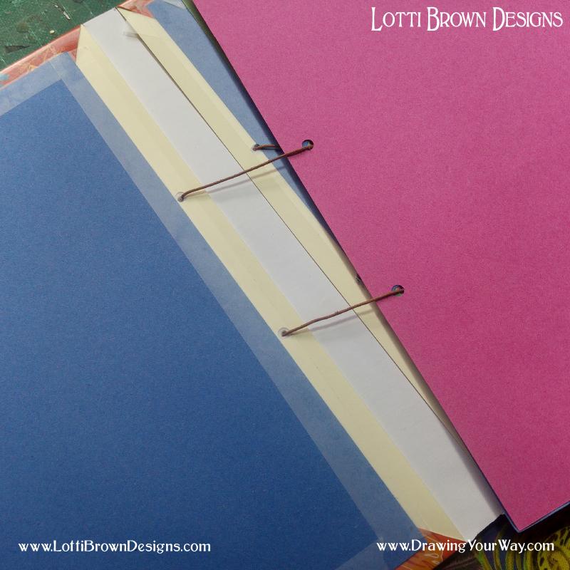 Threading your sketchbook