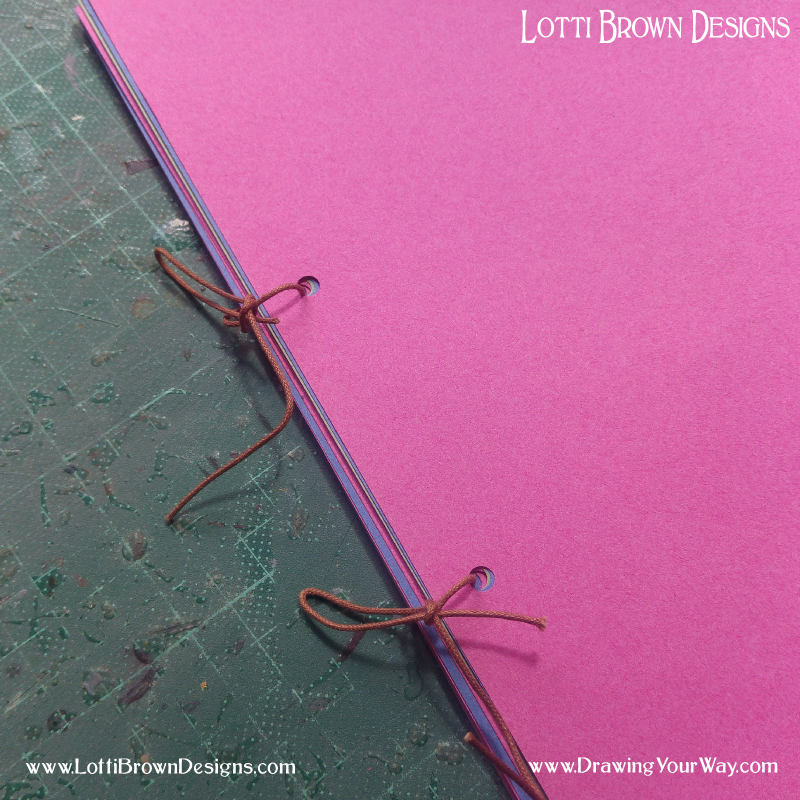 Tie together your pages loosely.