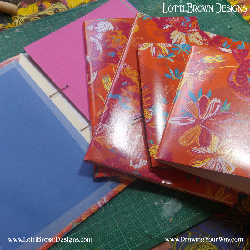 Learning how to make art sketchbooks that are quick and easy to make