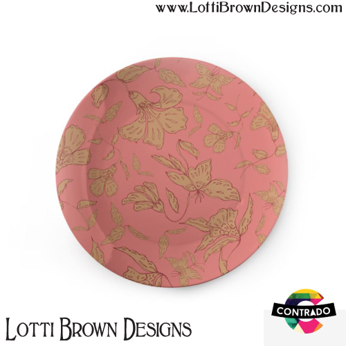 Tropical Coral Floral china plate by Lotti Brown at Contrado - click pic to find it in the store