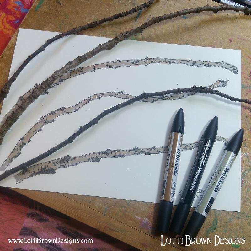 Twig drawings