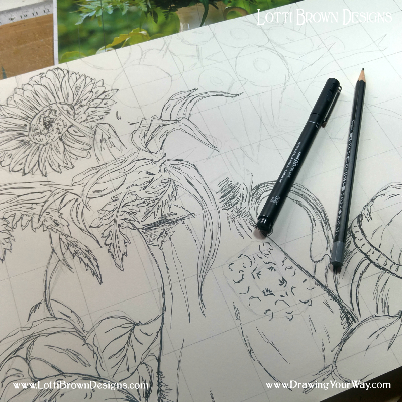 We learn the skills to help us draw from life as well as drawing from photo resources