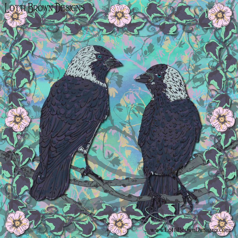 Forever Jackdaws art by Lotti Brown