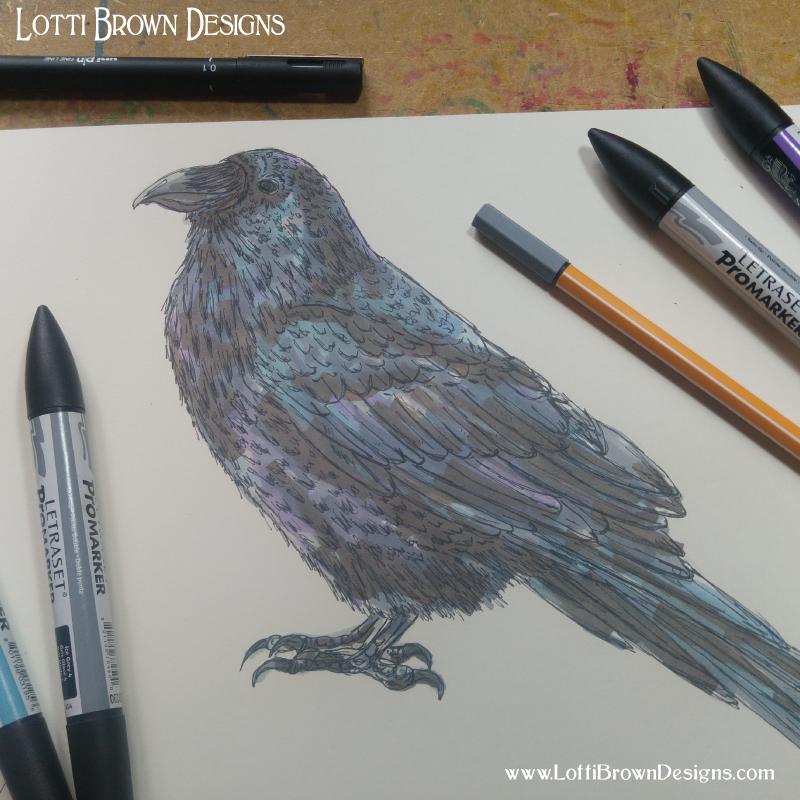 Adding colour to my raven