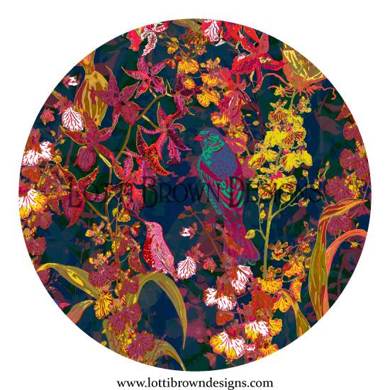 Fabrics available by Lotti Brown Designs at Treniq (via Lemon Head Prints)