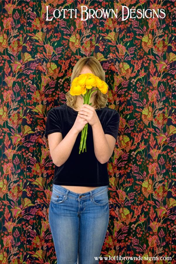 Lotti Brown - poppy wallpaper