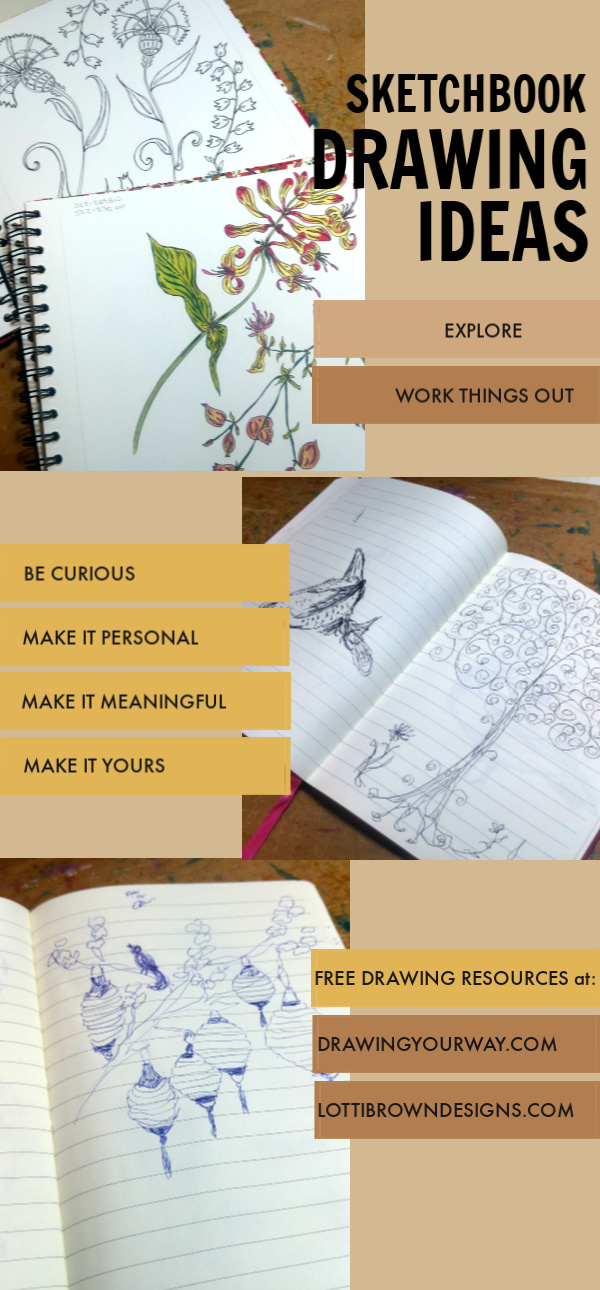 Drawing Ideas & prompts for your sketchbook