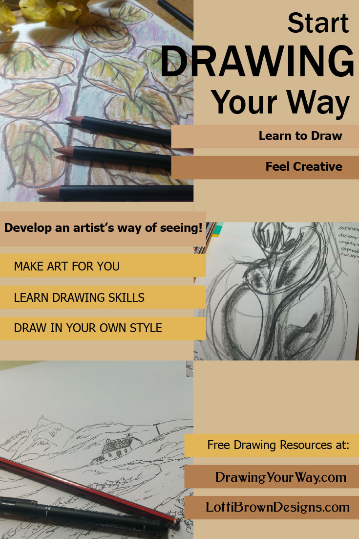 Learn how to draw in your own best way!