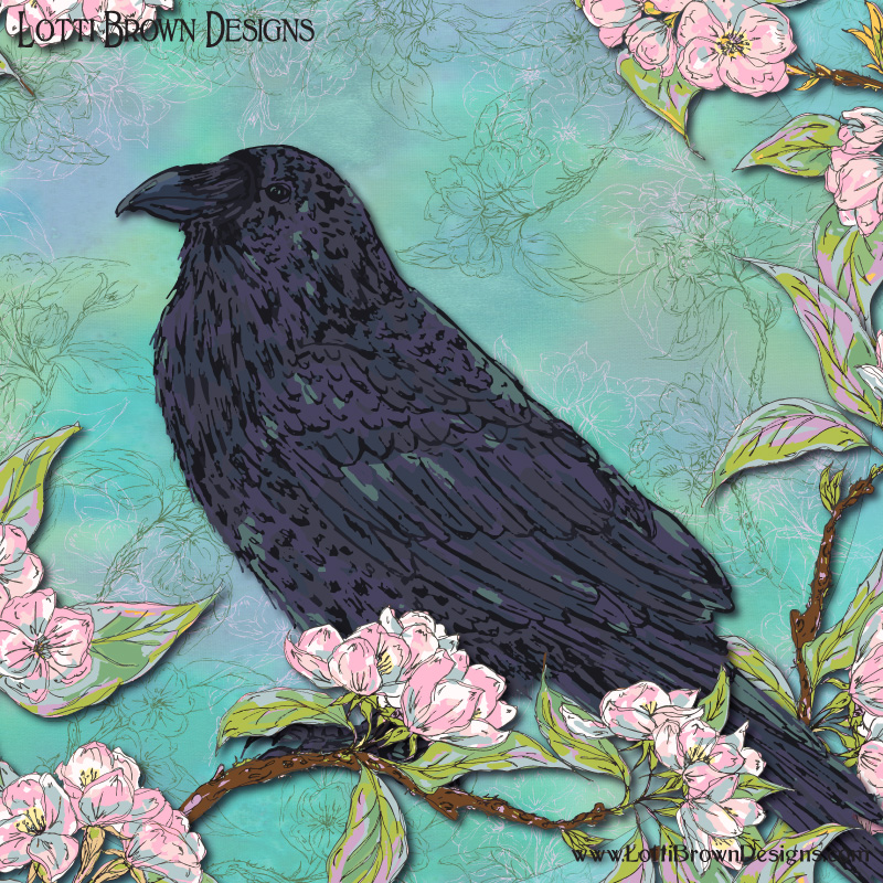 Raven artwork detail - click to see behind the scenes...
