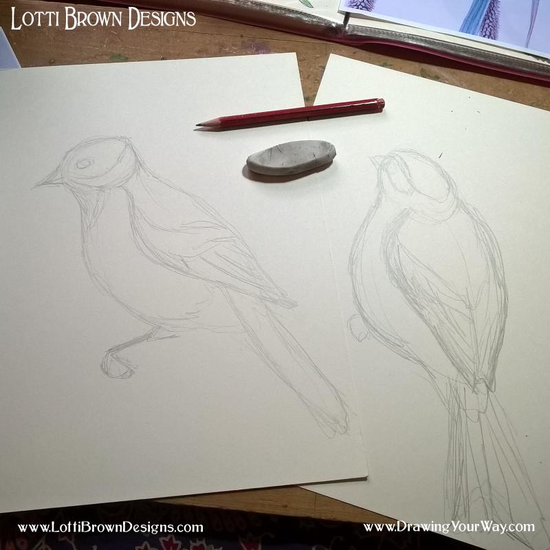 Sketching my Buntings