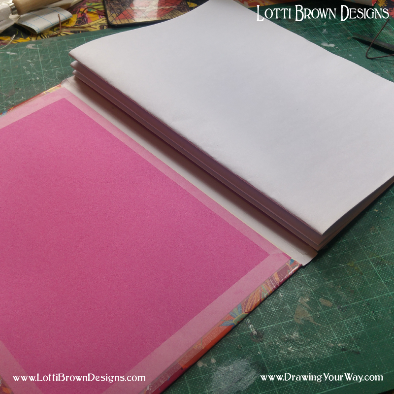 How to make a sewn sketchbook with lots of pages