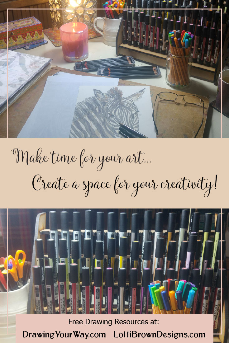Plan your creative practice and create a space for your art…