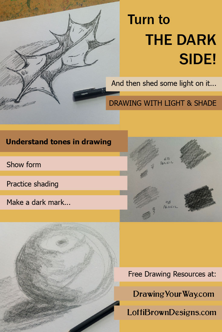 Learning about using light and dark to make your drawings look more realistic