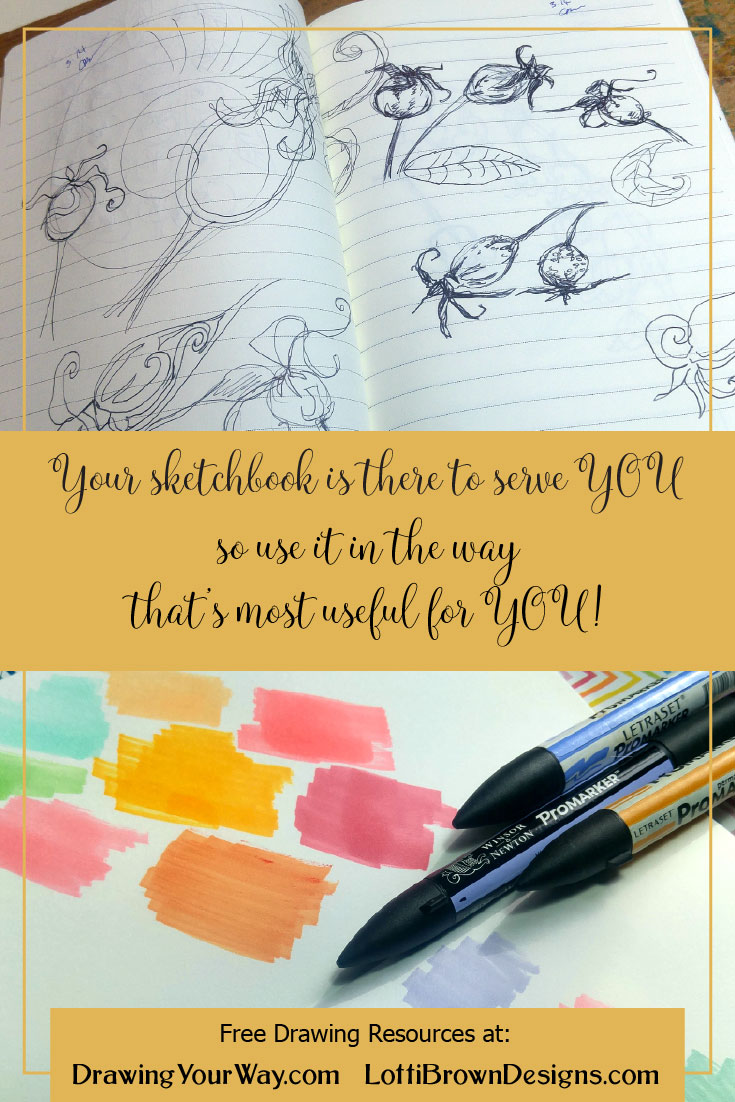 Your sketchbook is there to serve you so use it in the way that's most useful for you personally!