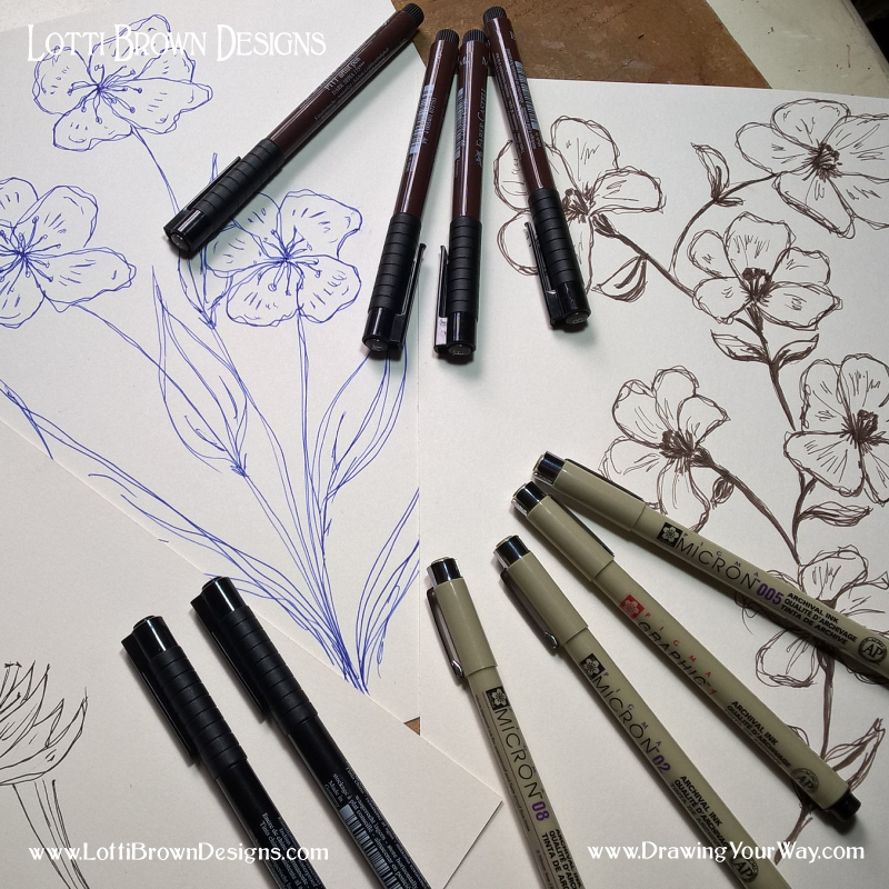 Learn all about drawing with pens
