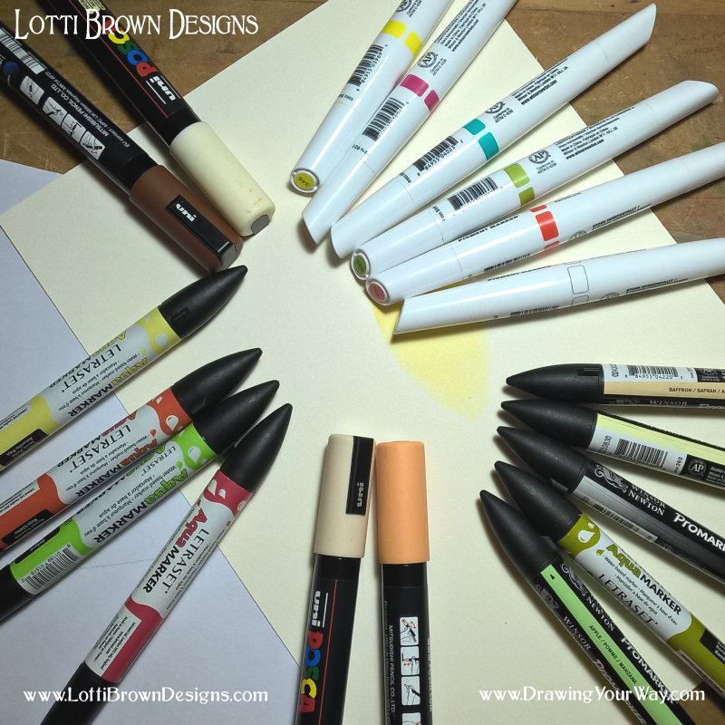 Learn how to draw with all these different marker types…