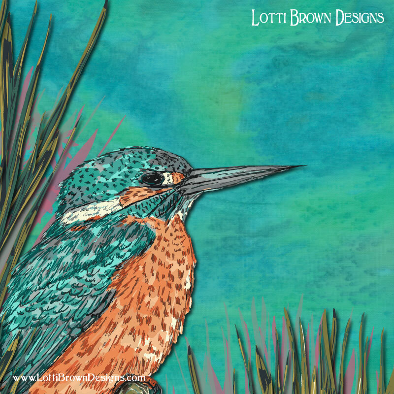 Kingfisher art detail - click to find out more
