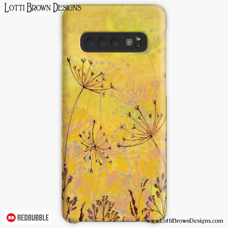 Yellow nature art phonecase by Lotti Brown at Redbubble - click to see…