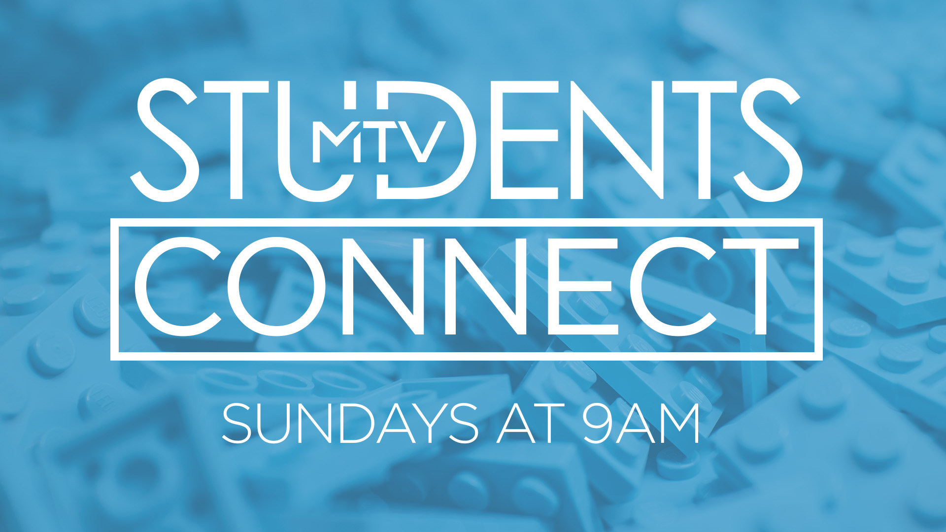 CONNECT IS A SERVICE DESIGNED FOR STUDENTS IN GRADES 6TH - 12TH. STUDENTS WILL LEARN OVER EIGHT WEEKS; THE FOUNDATIONS OF THEIR FAITH, DISCOVER HOW GOD HAS WIRED THEM AND FIND THEIR PLACE TO SERVE AT MTVchurch.