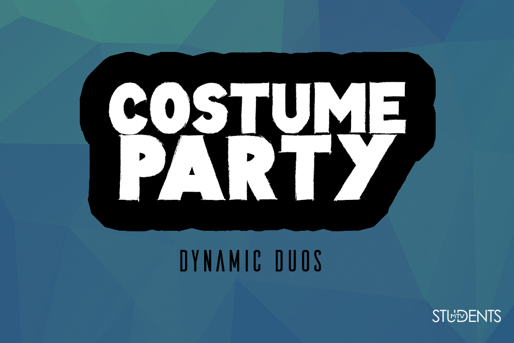 MTVstudents Costume Party & Agape Feast This year's theme is Dynamic Duos.(Examples PB&J, Mario & Luigi etc.) Agape Feast is a huge feast! We ask all students to bring their favorite dish to add to the table as we rotate every 90 seconds. Invite Your Friends!