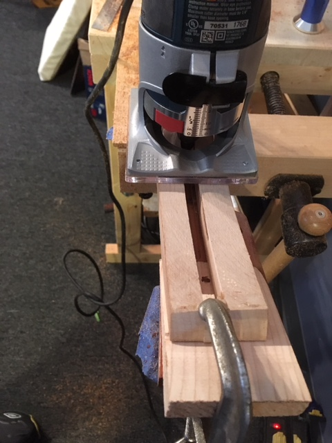 Special shim routing jig.
