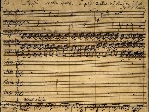Manuscript of St. John's Passion by Johann Sebastian Bach.