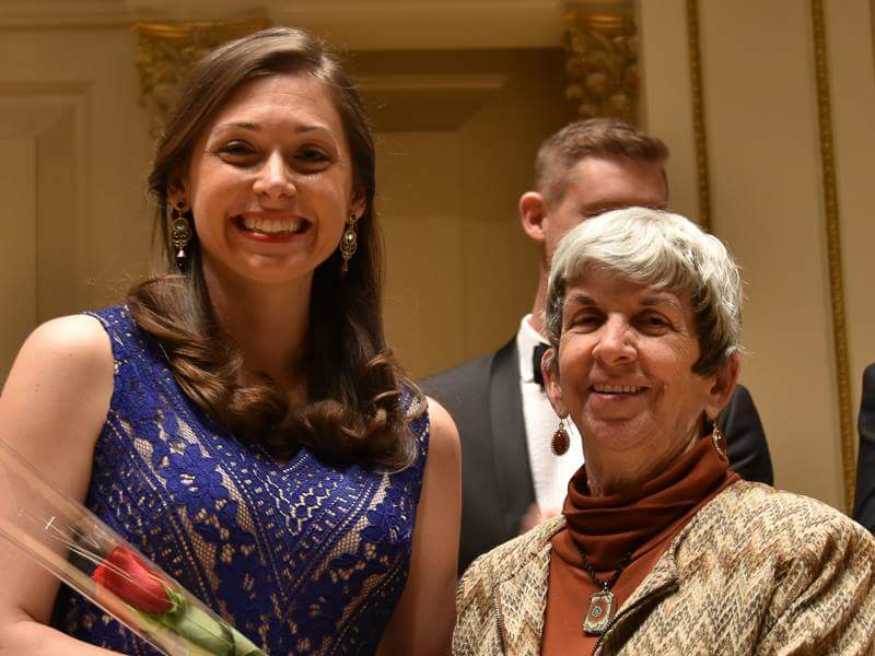 Heather at the Oratorio Society competition