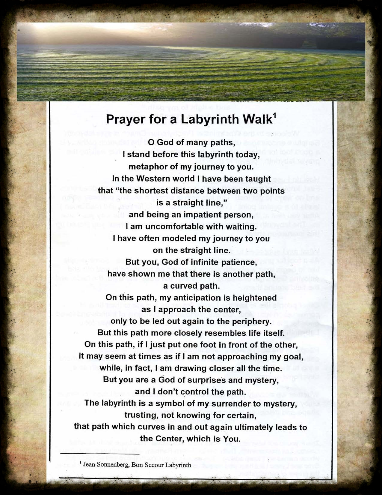 Prayer for a Labyrinth Walk