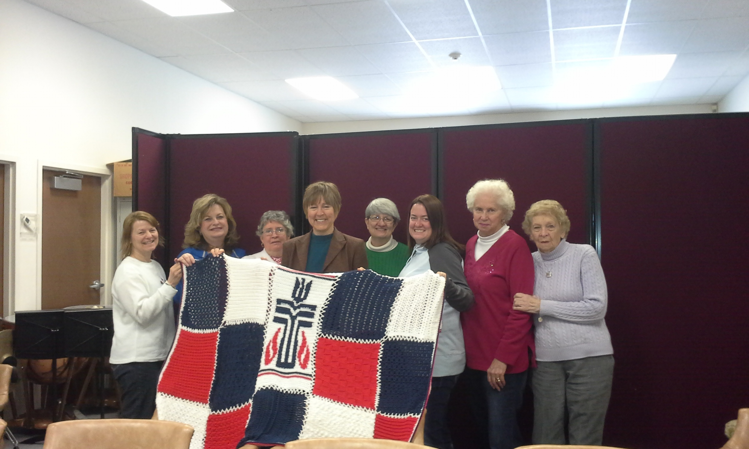 "Hooks and Needles Group afgan. Presented to Rev. Donna Havrisko for ""Pastor Appreciation Week"""