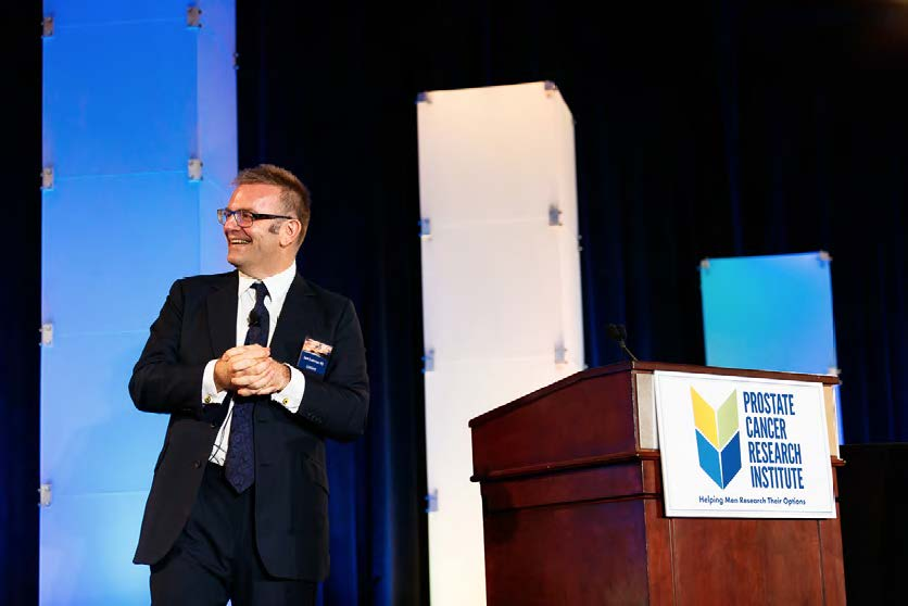 Mark Emberton, MD, presenting at the 2016 Prostate Cancer Conference