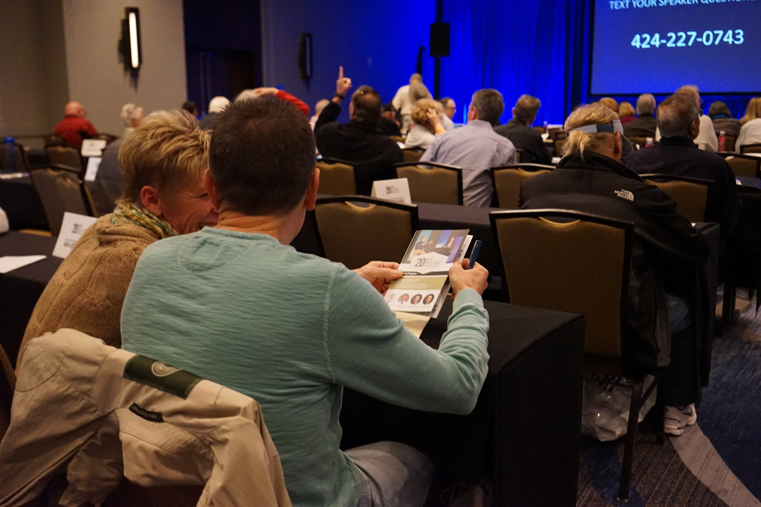 Patient and caregiver attending general session