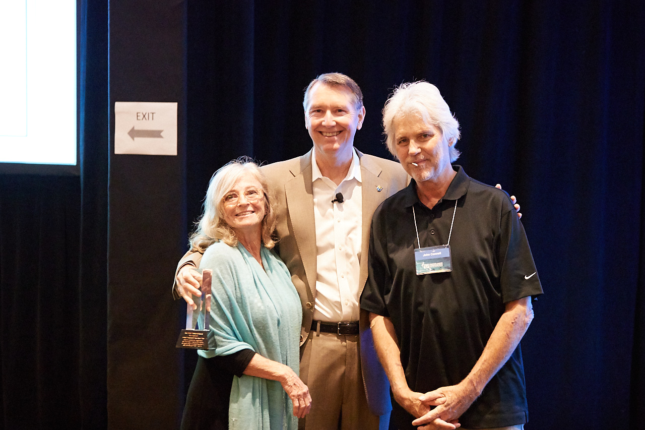 Christine Carr, Mark Scholz, MD, and John Connell