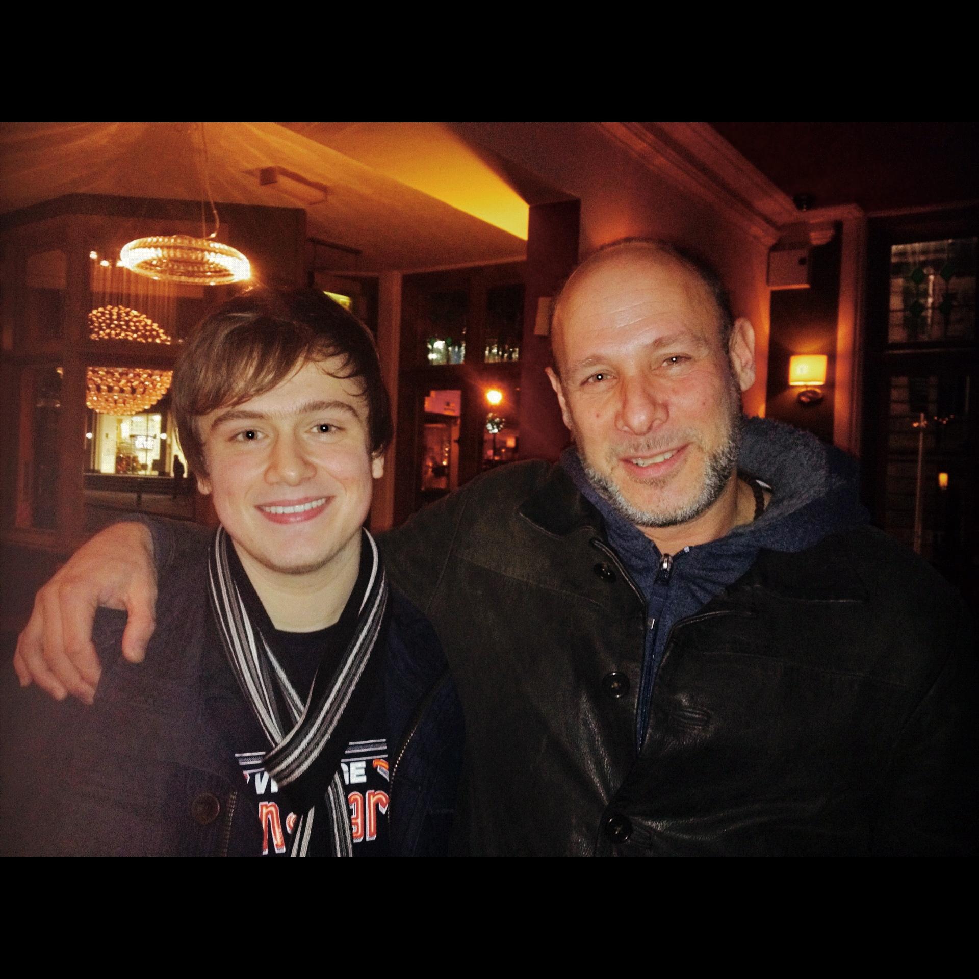 Harry Bolt with Jeff Ballard