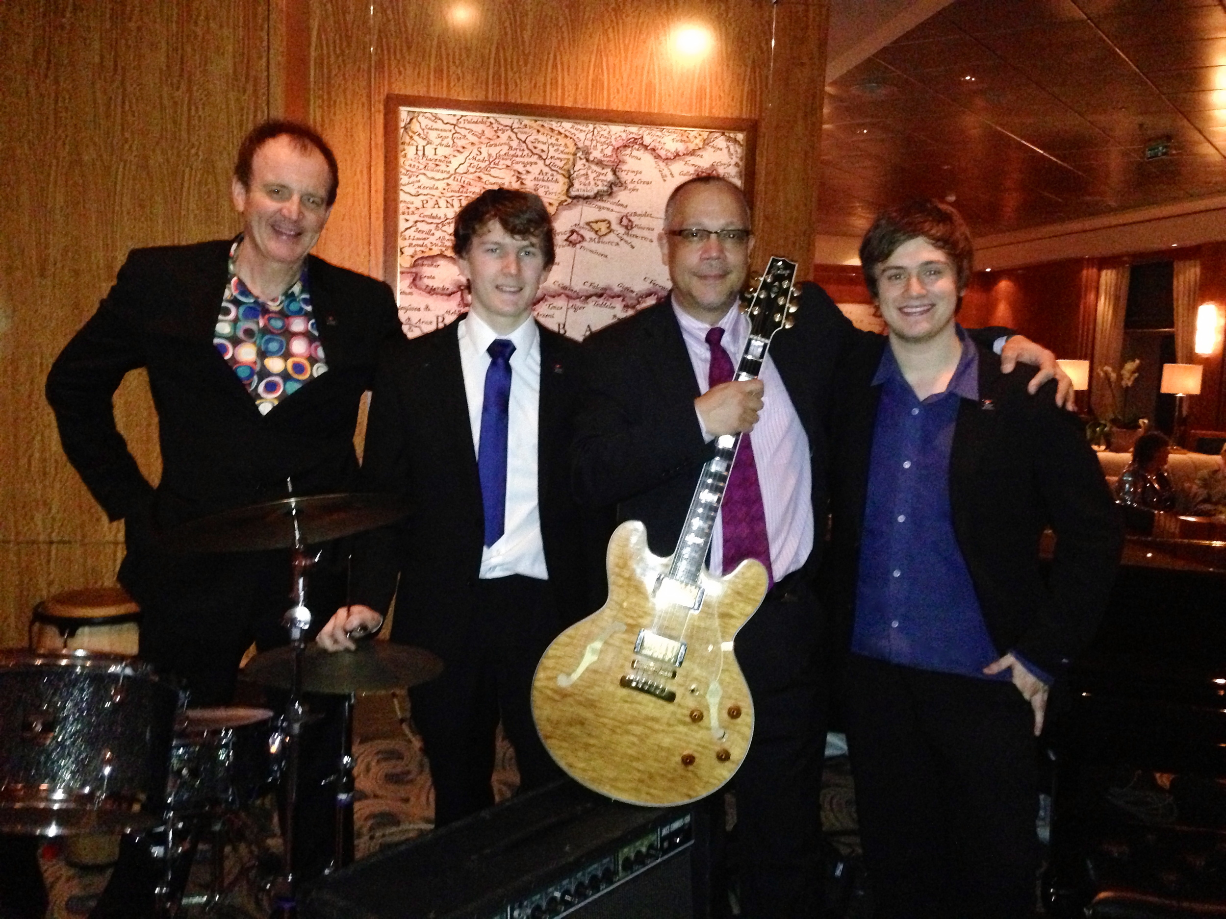 Harry Bolt Trio with Rodney Jones on the Queen Mary 2