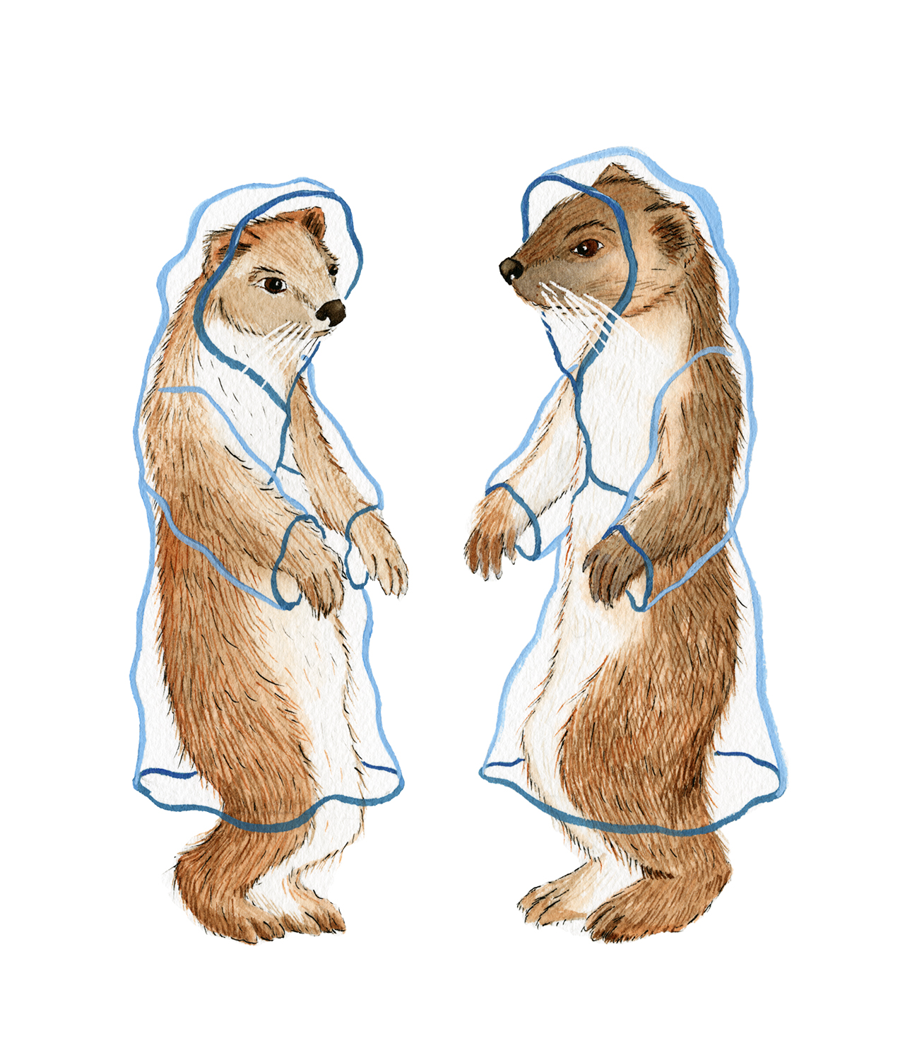 Stoats In Raincoats