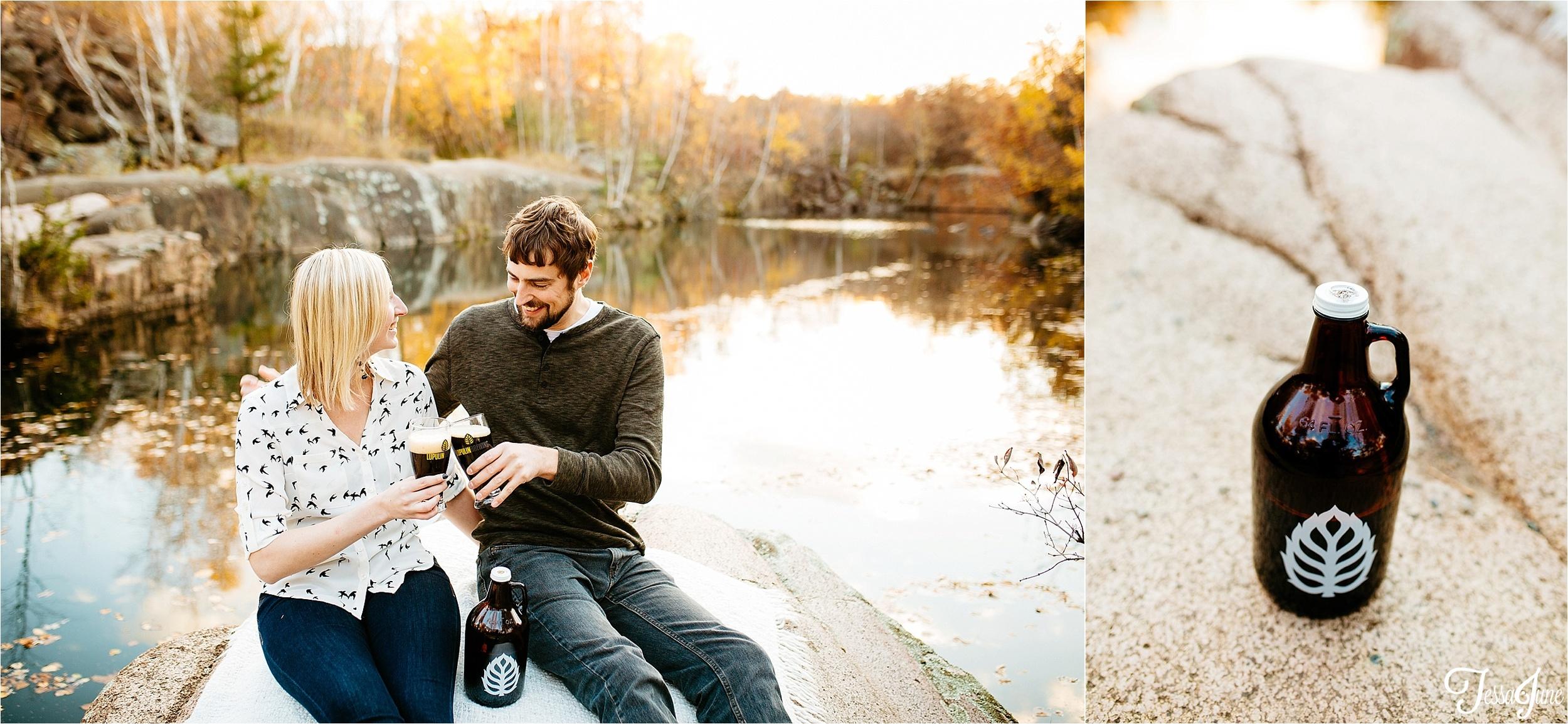 st-cloud-minnesota-wedding-photographer-unique-waite-park-quarries-fall-beer