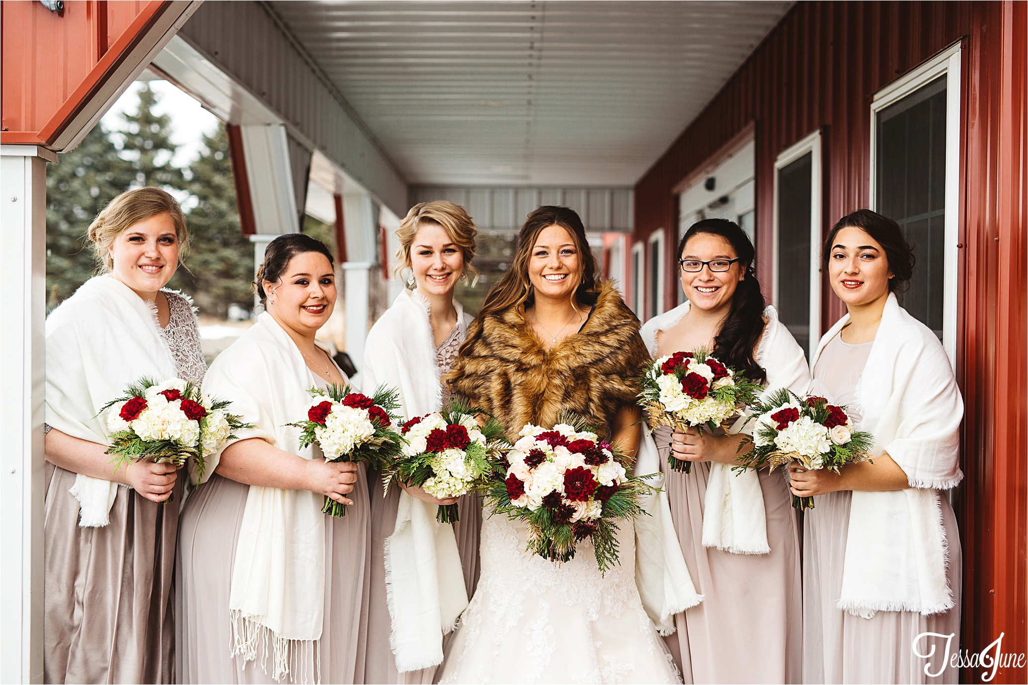 st-cloud-minnesota-wedding-photographer-the-outpost-center-chaska-snow-winter-romantic-bridesmaids