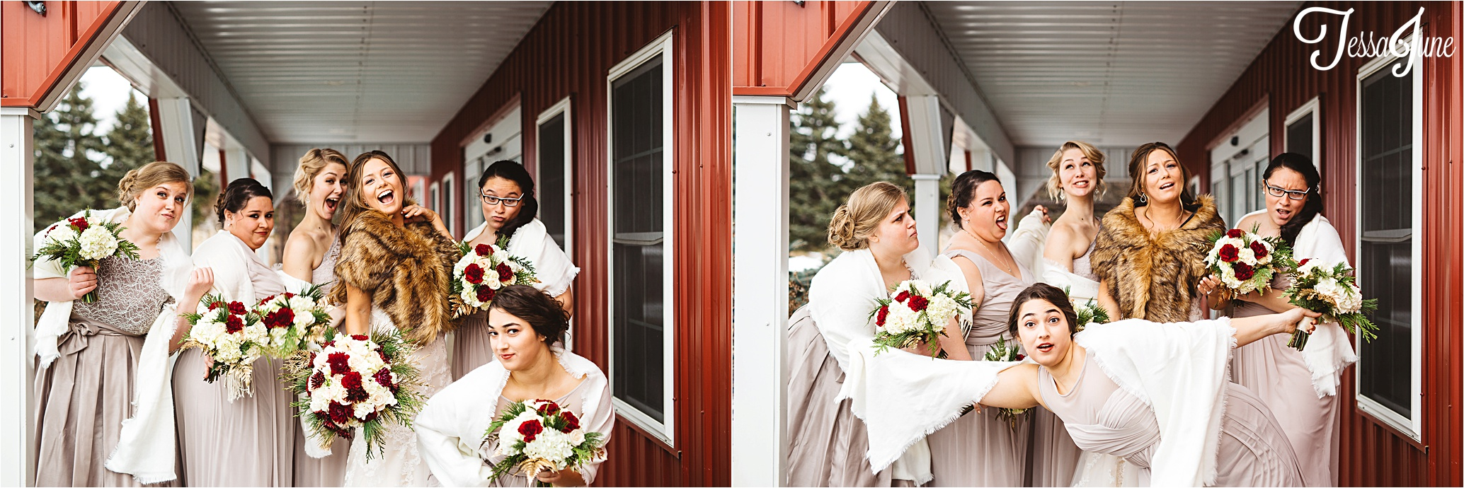 st-cloud-minnesota-wedding-photographer-the-outpost-center-chaska-snow-winter-romantic-bridesmaid