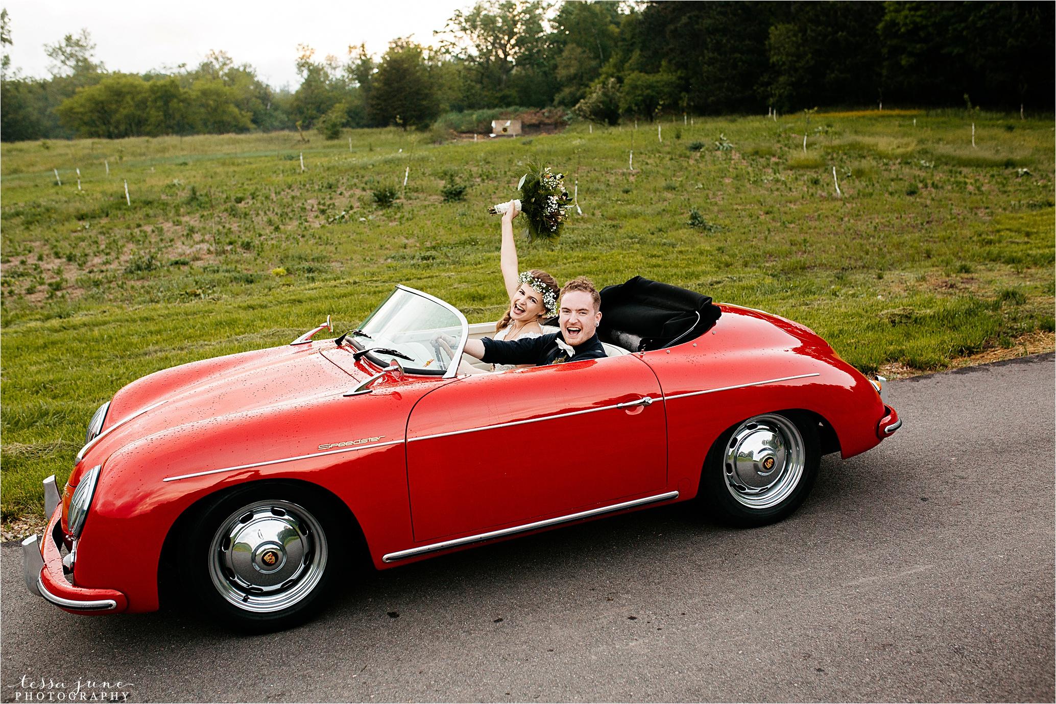 bohemian-forest-wedding-stillwater-minnesota-flower-crown-st-cloud-photographer-getaway-car