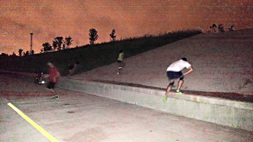 Nothing like some good ole hill sprints first thing in the morning.