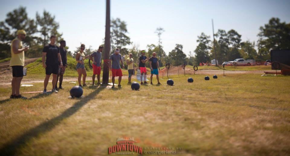 The med ball sprint. Houston DTTD 4