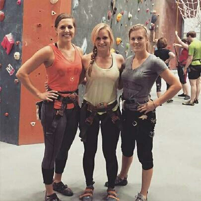 Amy, Maggie, and Annalese using thier fitness for fun!