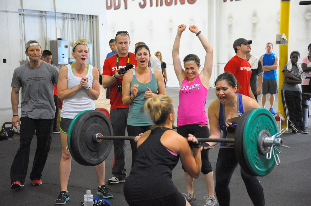 Lets help cheer others on after we finish our workout. Don't put gear up until everyone has finished!